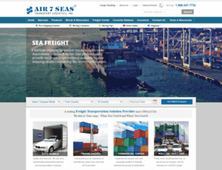 air7seas.com screenshot