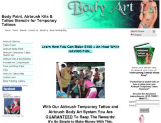 airbrushtemporarytattoos.com screenshot