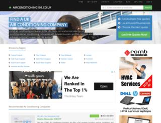 airconditioning101.co.uk screenshot