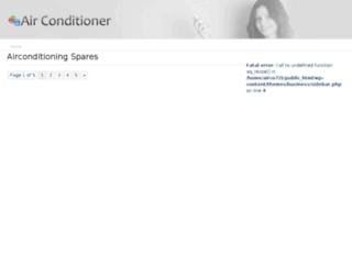 airconditioningspares.co.za screenshot