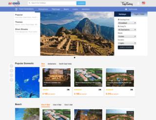 aircosta.tripfactory.com screenshot