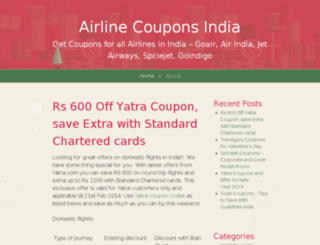 aircoupons.wordpress.com screenshot
