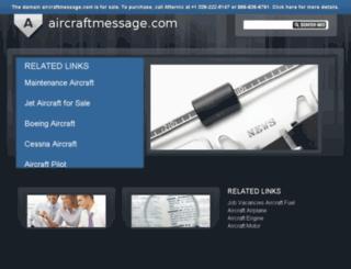 aircraftmessage.com screenshot