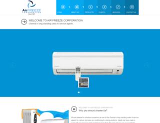 airfreezecorp.com screenshot