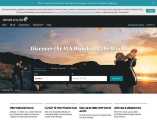 airnewzealand.co.uk screenshot