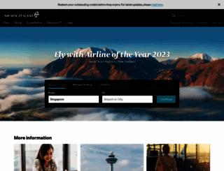 airnewzealand.com.sg screenshot