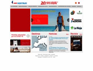 airnostrum.es screenshot