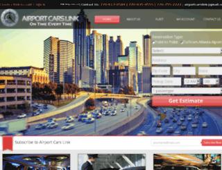 airportcarslink.com screenshot