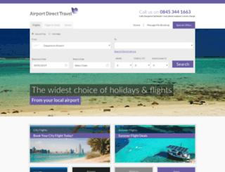 airportdirecttravel.co.uk screenshot