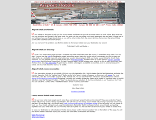 airporthotelsnet.com screenshot