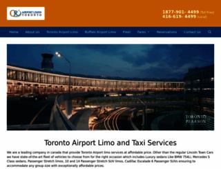 airportlimostoronto.com screenshot