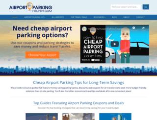 airportparkinghelper.com screenshot