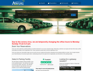 airportparkinginc.com screenshot