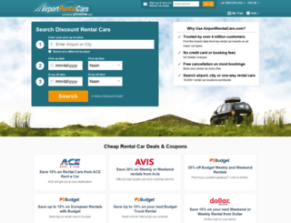 airportrentalcars.com screenshot