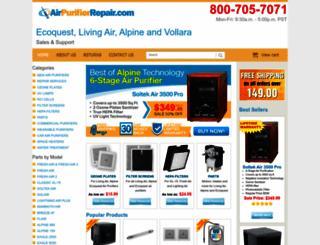 airpurifierrepair.com screenshot