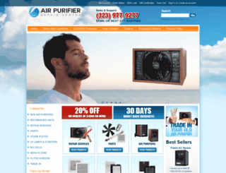 airpurifierrepaircenter.net screenshot