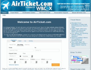 airticket.com screenshot