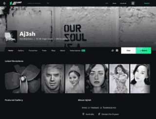 aj3sh.deviantart.com screenshot