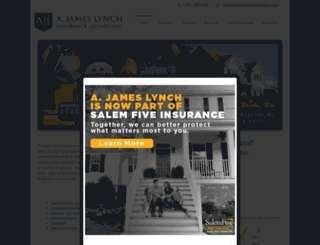 ajameslynchinsurance.com screenshot