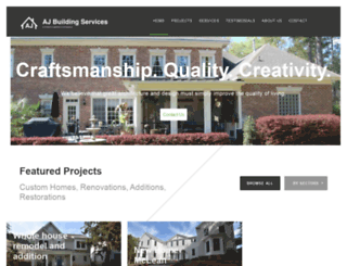 ajbuildingservices.com screenshot