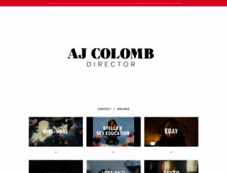 ajcolomb.com screenshot
