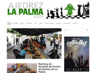 ajedrezlapalma.com screenshot