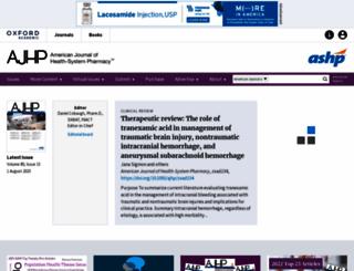 ajhp.org screenshot