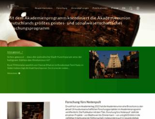 akademienunion.de screenshot