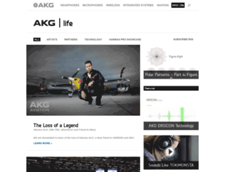 akglife.com screenshot