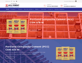 akijcement.com screenshot