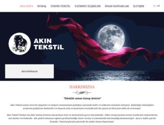akintekstil.com.tr screenshot
