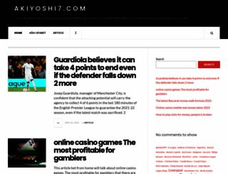 akiyoshi7.com screenshot