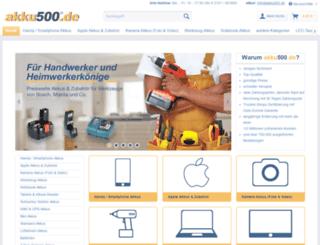 akku500.de screenshot