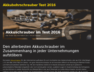 akkuschrauber-test-2016.mozello.de screenshot