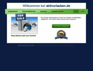 aktivurlauben.de screenshot