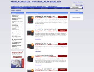 akumulatory-baterie.com screenshot
