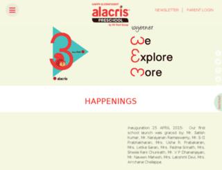 alacrispreschool.com screenshot