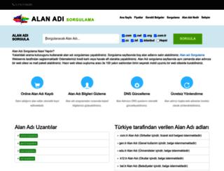 alanadisorgulama.gen.tr screenshot