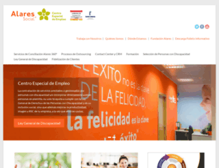 alaressocial.es screenshot