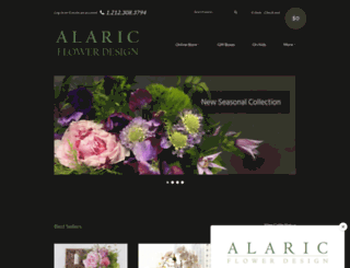 alaricflowers.com screenshot