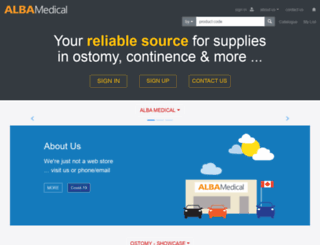 albamedical.ca screenshot