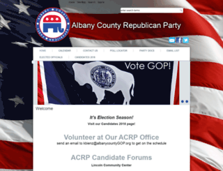 albanycountyrepublicanparty.net screenshot