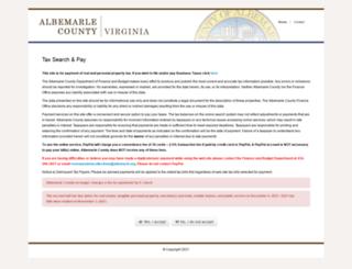 albemarlecountytaxes.org screenshot