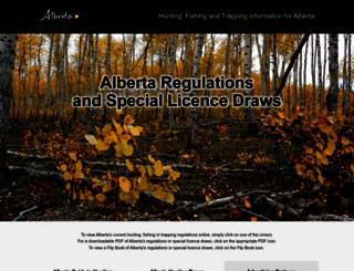albertaregulations.ca screenshot