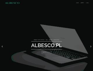 albesco.pl screenshot