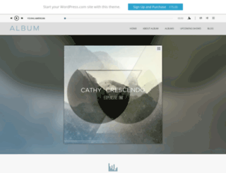 albumdemo.wordpress.com screenshot