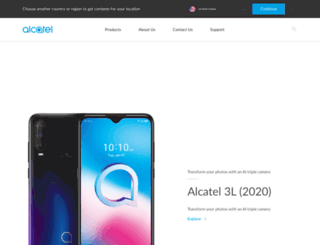 alcatelonetouch.com screenshot