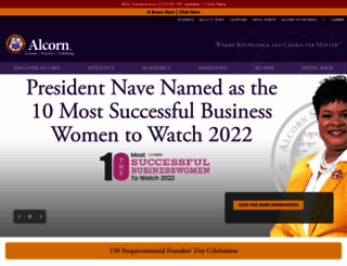alcorn.edu screenshot