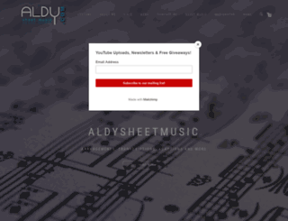 aldysheetmusic.com screenshot