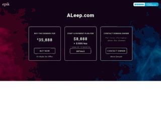 aleep.com screenshot